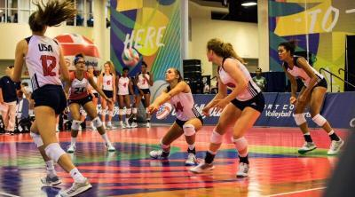 USA Volleyball Sport Court Gym Floor