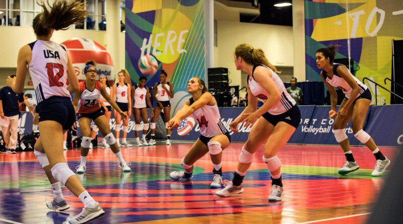 USA Volleyball Sport Court Gym Floor