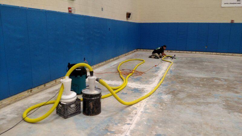 Gym Floor Preparation