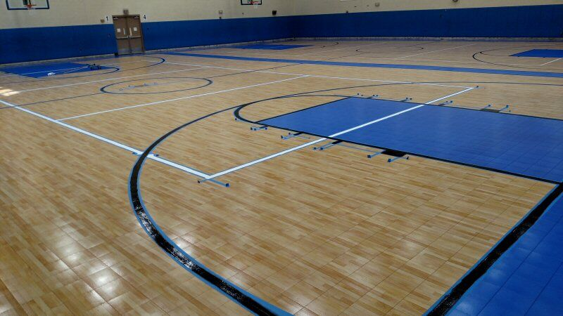 Basketball Stripes Painting Sport Court Gym Floor
