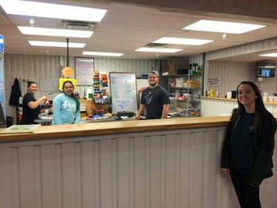 The snack bar at Tiger Sports Complex is staffed with friendly folks who are ready to serve the Texas volleyball community.