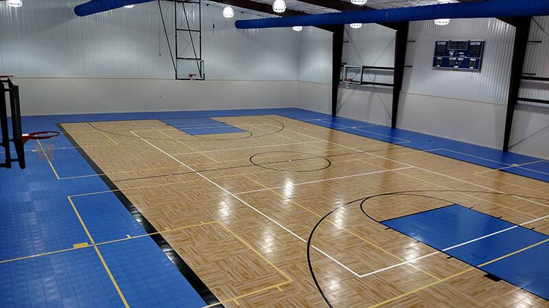 Sport Court Parquet Gym Floor