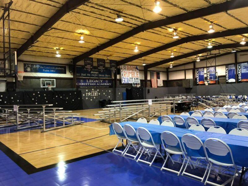 The Sport Court® Response Maple gym floor makes a perfect stage for the talent show.