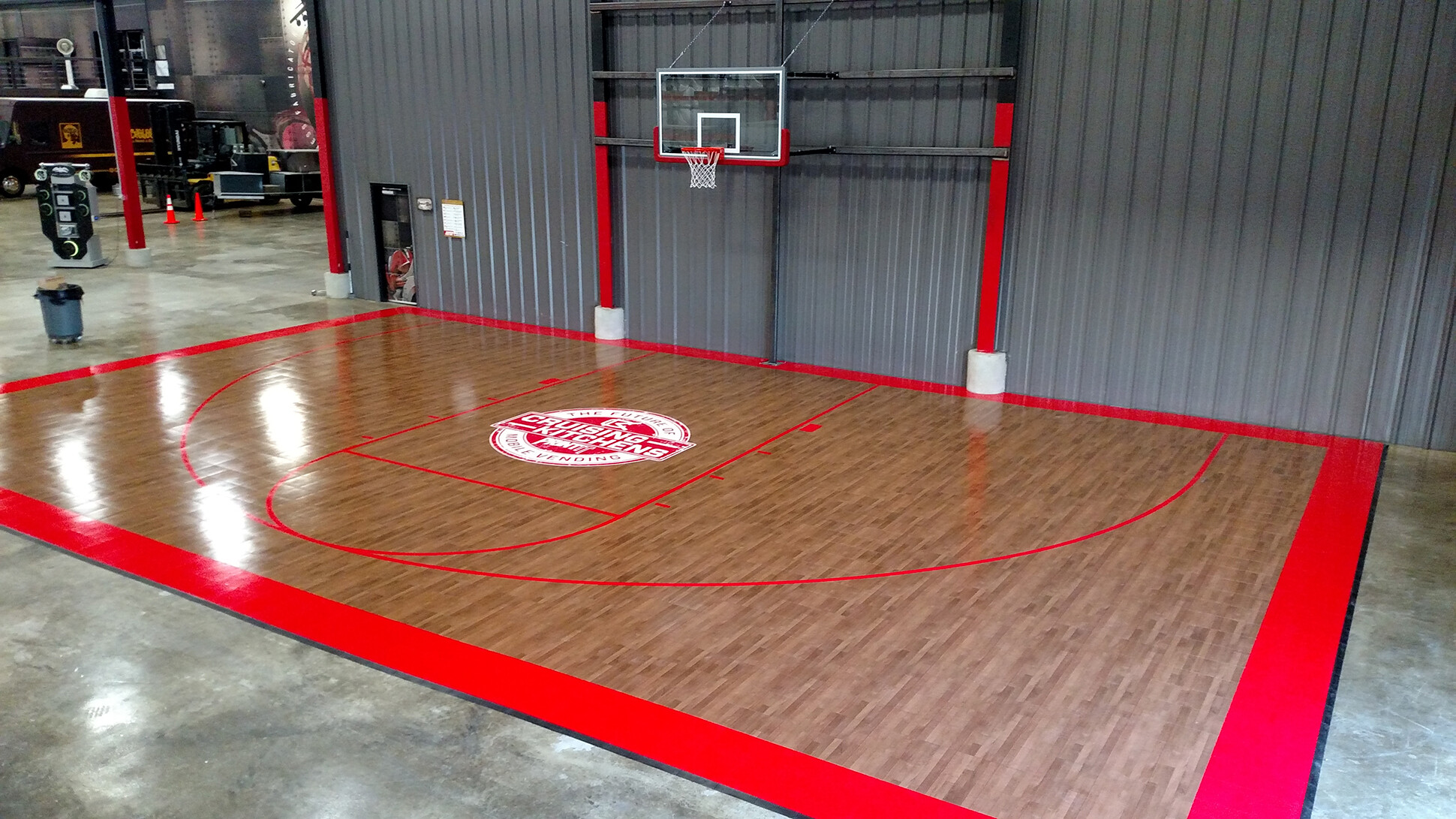Half Court Cruising Kitchens Sport Court