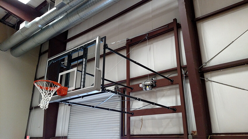 Gym Equipment Wall Mount Fold Up Basketball Goal