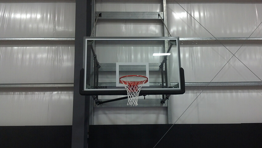 Gym Equipment Wall Side Fold Basketball Goal