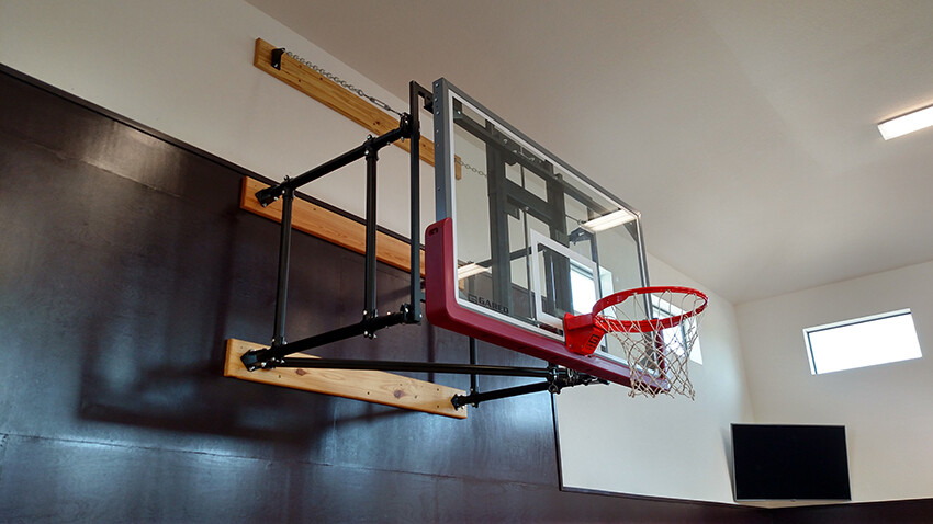 Gym Equipment Wall Mount Side Fold Basketball Goal