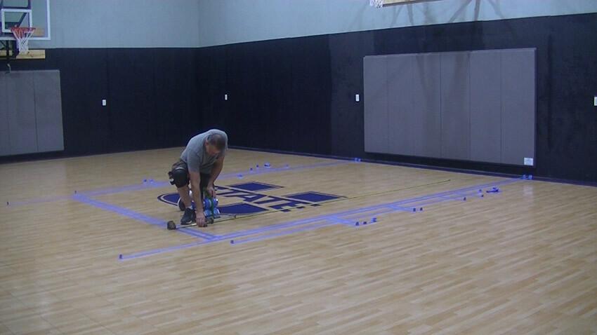 Home Gym Basketball Game Stripes