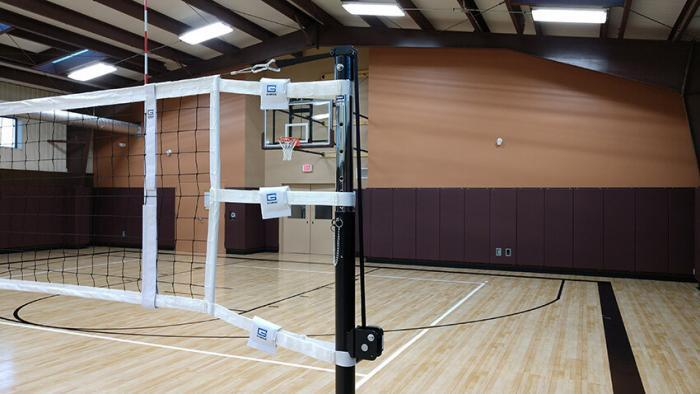 Gared Sports steel Telescoping Volleyball System