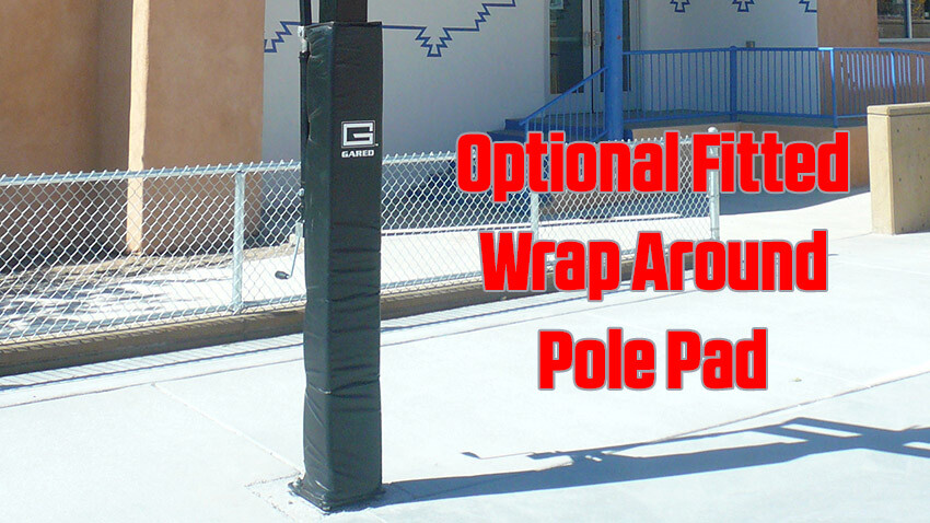 Collegiate Jam Basketball Goal with Fitted Wrap Around Pole Pad