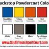 Stationary Basketball Goal Powdercoat Colors