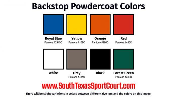 Stationary Basketball Goal Powdercoat Colors