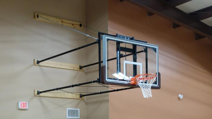 Gared Sports 2300 Stationary Wall Mount Basketball Goal