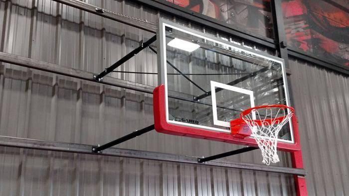 Stationary Wall Mount Basketball Goal Steel Frame