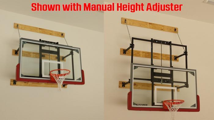 Gared Sports 2300 Wall Mount Stationary Basketball Goal with Height Adjuster
