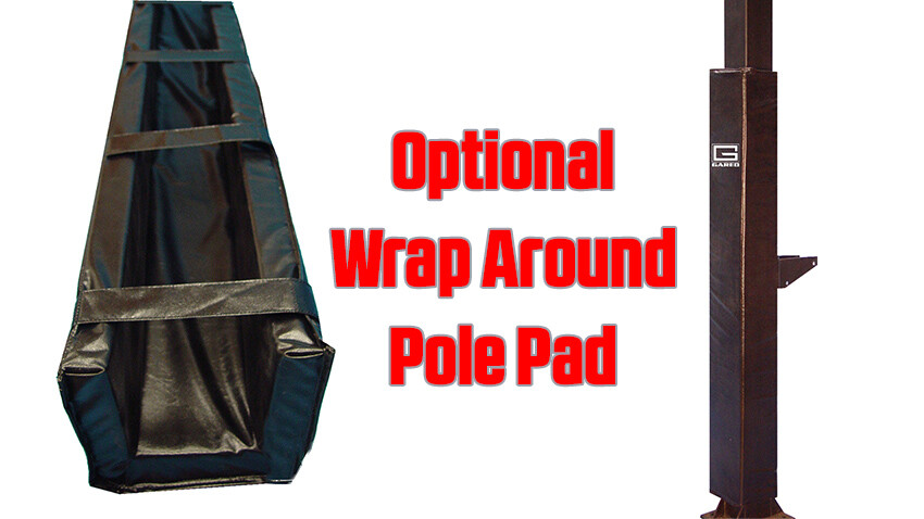Collegiate Jam Basketball Goal Fitted Wrap Around Pole Pad