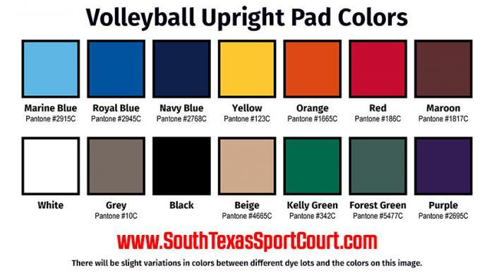 Volleyball Pole Pad Colors