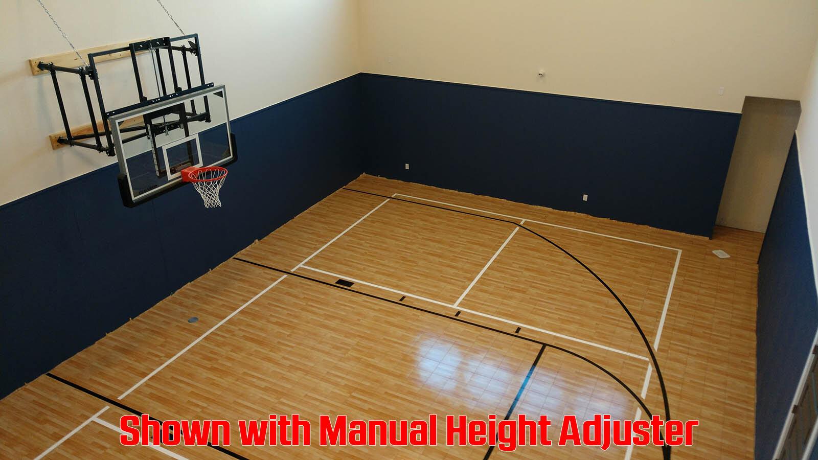 Side Fold Wall Mount Basketball Goal