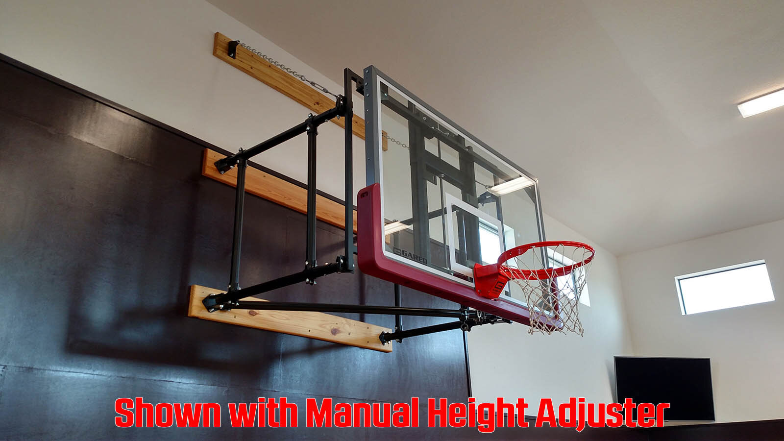 Side fold Wall Mount Basketball Goal