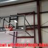 fold up wall mount basketball goal with height adjuster