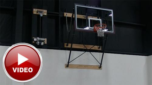 Up Fold Wall Mount Basketball Goal