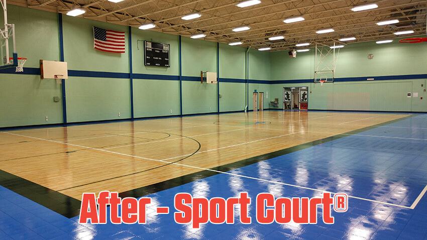 Ben Garza Gymnasium Sport Court High Gloss Maple Select