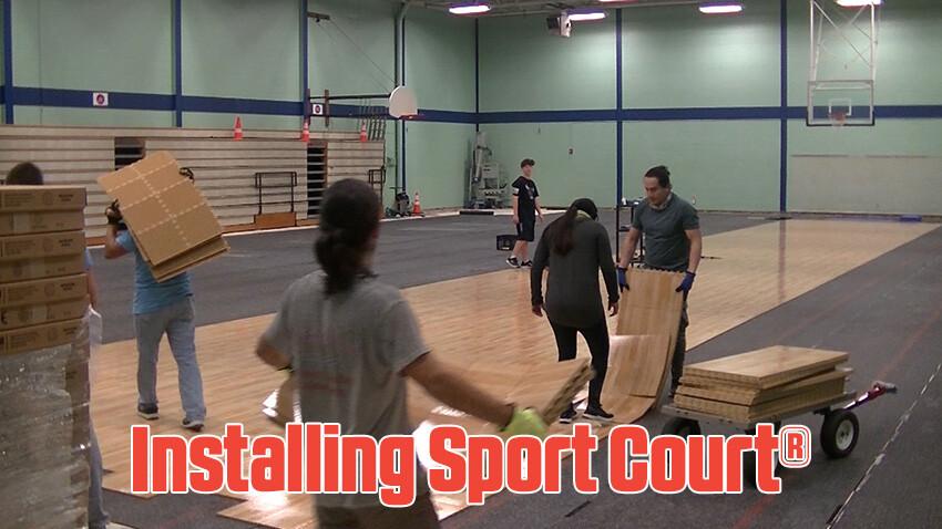 Ben Garza Gymnasium Installing Sport Court