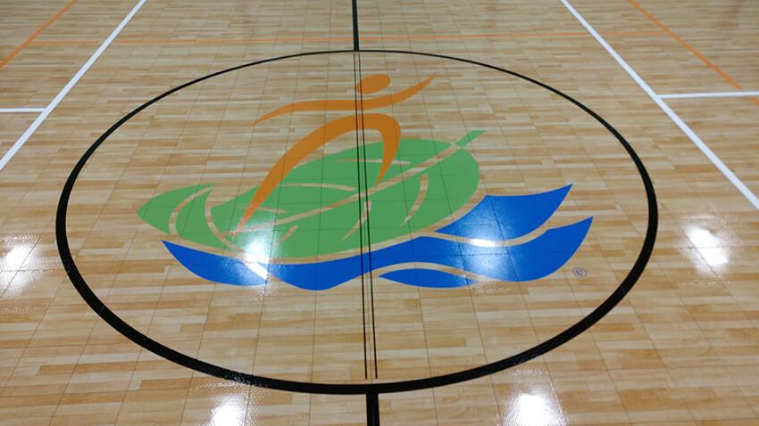 Ben Garza Gymnasium Center Court Logo