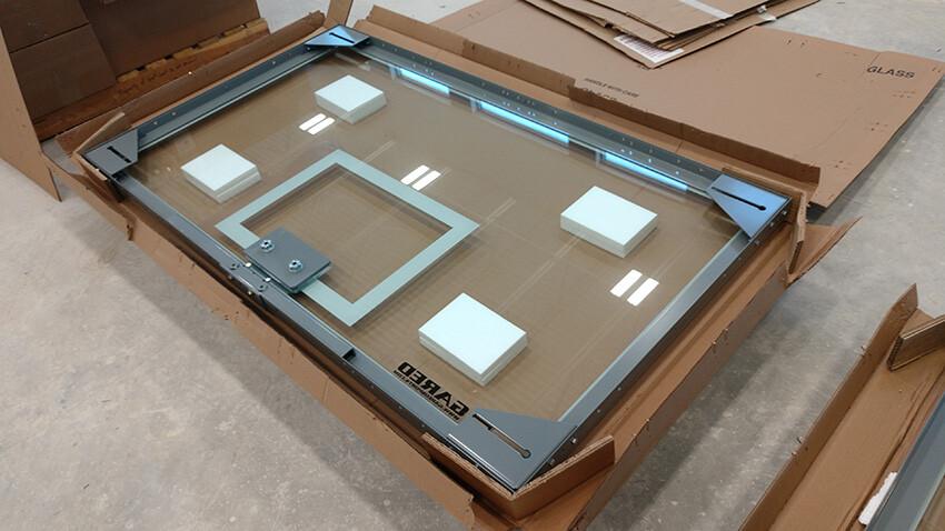 School of Science and Technology Alamo Gared Sports Glass Basketball Backboard