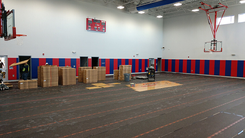 School of Science and Technology Alamo Installing Sport Court Flooring