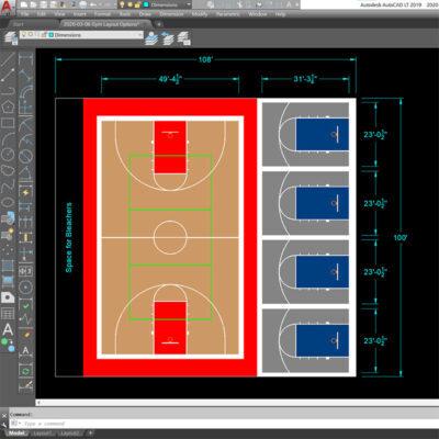 Using AutoCAD for Gym Design