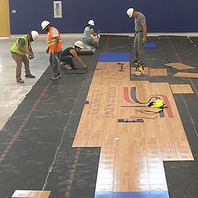 School of Science and Technology Hill Country Sport Court Gym Flooring