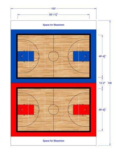 South Texas Sport Court Gym Design 100x146
