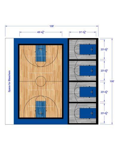 South Texas Sport Court Gym Design 108x100