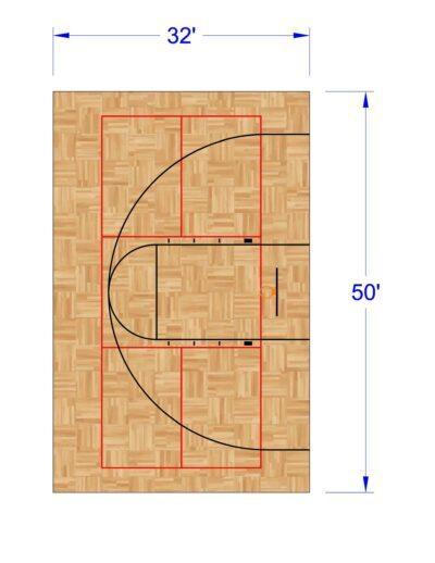 South Texas Sport Court Residential Gym Design 32x50