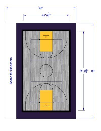 South Texas Sport Court Gym Design 66x90