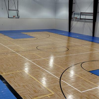Gym Design with Parquet Sport Court Flooring