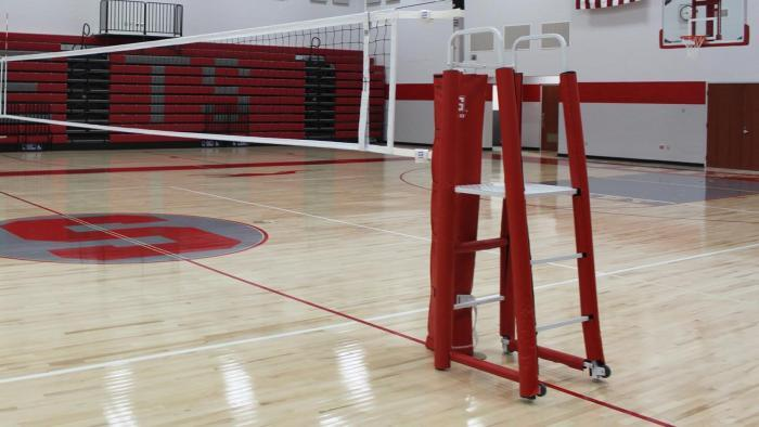 Gared Sports Volleyball Referee Stand with Red Pads