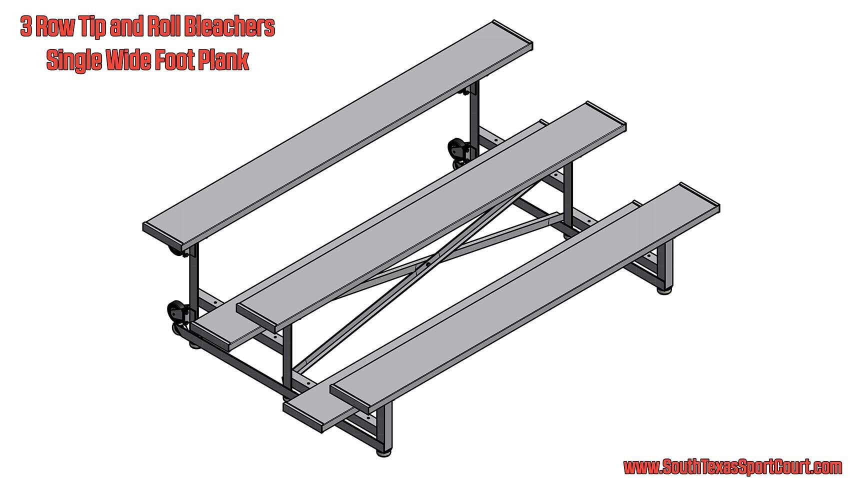 3 Row Tip and Roll Bleachers