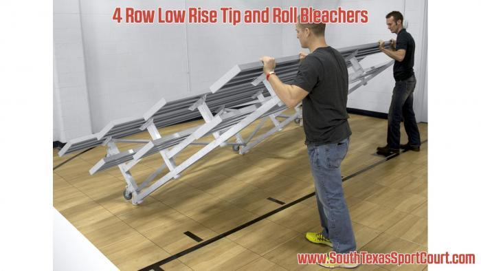 4 Row Low Rise Tip and Roll Bleachers Single Foot Plank Photo 1