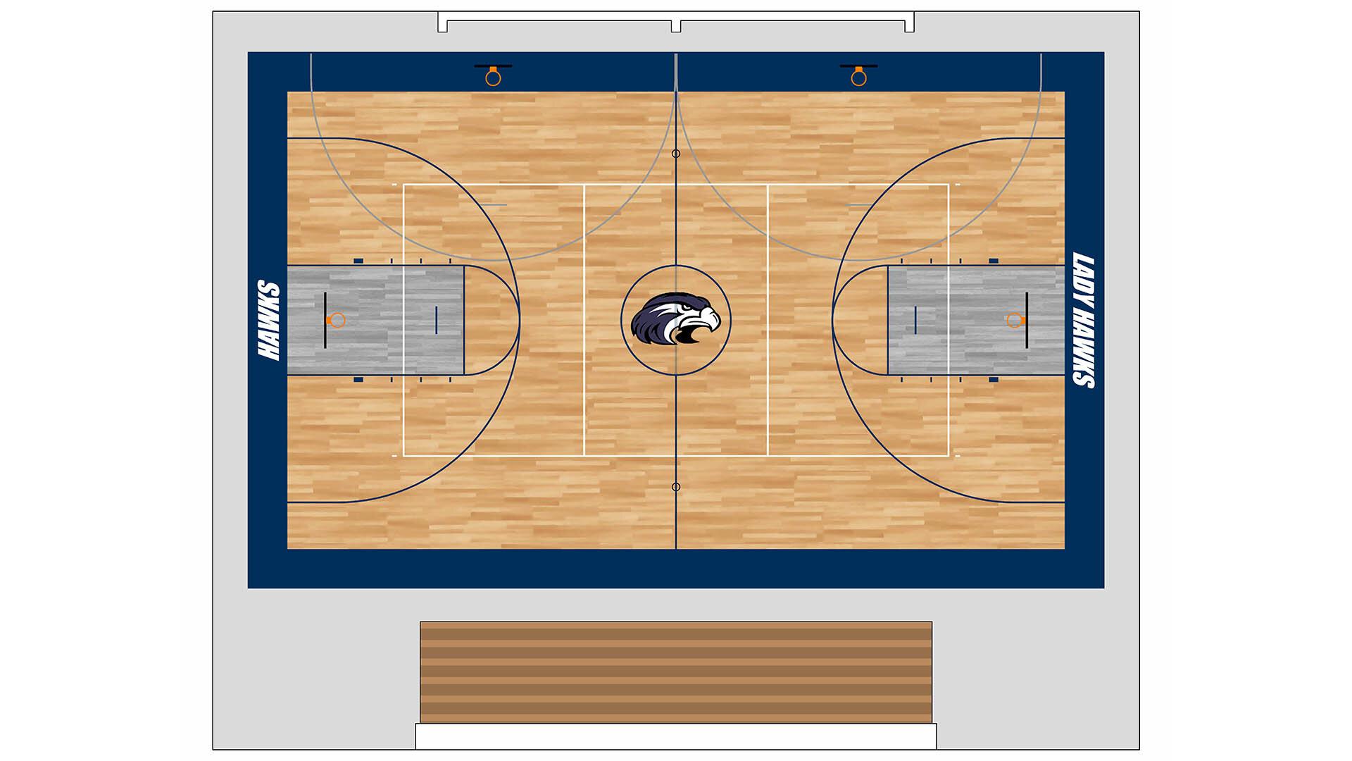 Sport Court Gym Floor Layout
