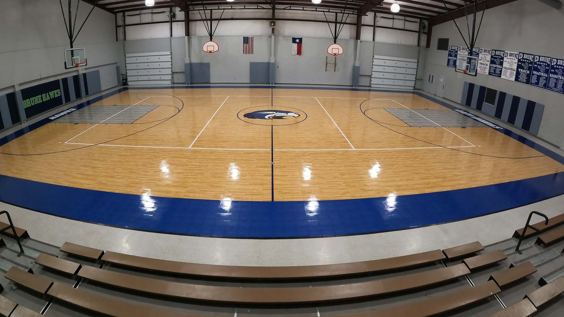 Big Springs Charter School gym Floor