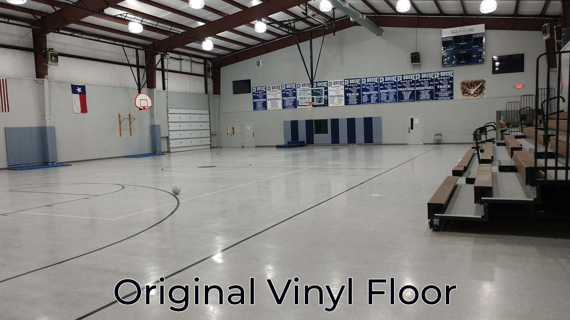 VCT Flooring in Gym